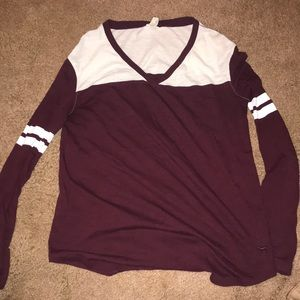 Soft jersey shirt burgundy